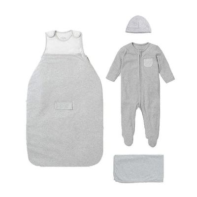 MORI Clever Sleep Set - Grey-Clothing Sets-Grey-0-3m- Natural Baby Shower
