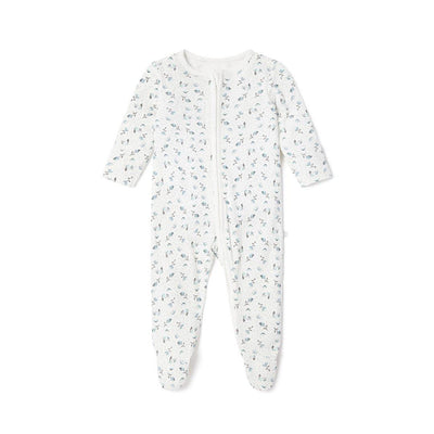 MORI Clever Zip Sleepsuit - Floral-Sleepsuits- Natural Baby Shower