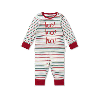 MORI Festive Pyjama Set - Festive Stripe-Pyjamas- Natural Baby Shower
