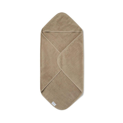 MORI Hooded Baby Bath Towel - Taupe-Towels & Robes-Taupe- Natural Baby Shower