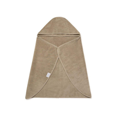 MORI Hooded Toddler Bath Towel - Taupe-Towels & Robes-Taupe- Natural Baby Shower