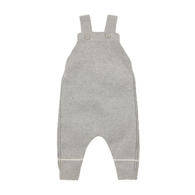 MORI Knitted Dungarees - Grey-Dungarees- Natural Baby Shower