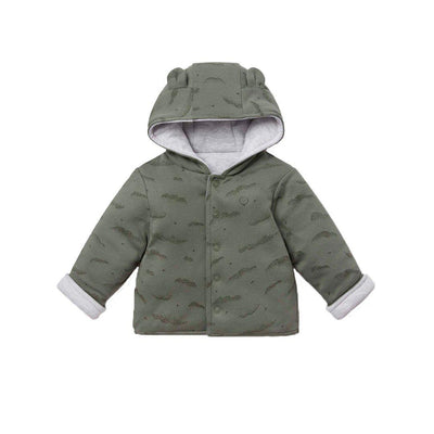MORI Reversible Coat - Khaki Cloud & Grey-Coats & Snowsuits- Natural Baby Shower