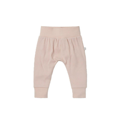 MORI Ribbed Comfy Joggers - Blush-Pants- Natural Baby Shower