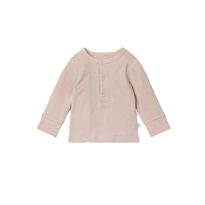 MORI Ribbed Pyjamas - Blush-Pyjamas- Natural Baby Shower