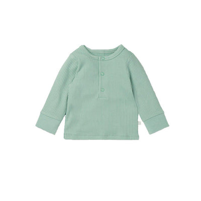 MORI Ribbed Pyjamas - Mint-Pyjamas- Natural Baby Shower