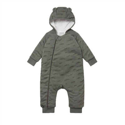 MORI Snugsuit - Khaki Cloud-Coats & Snowsuits- Natural Baby Shower
