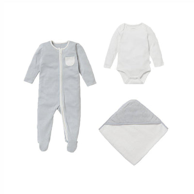 MORI Soak + Sleep Set - Blue-Clothing Sets- Natural Baby Shower