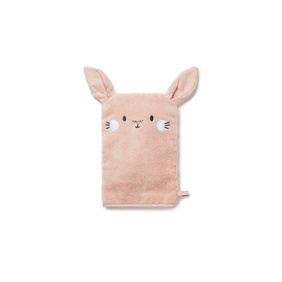MORI Towel Mitt - Bunny - Blush-Bath Mitts-Blush-One Size- Natural Baby Shower