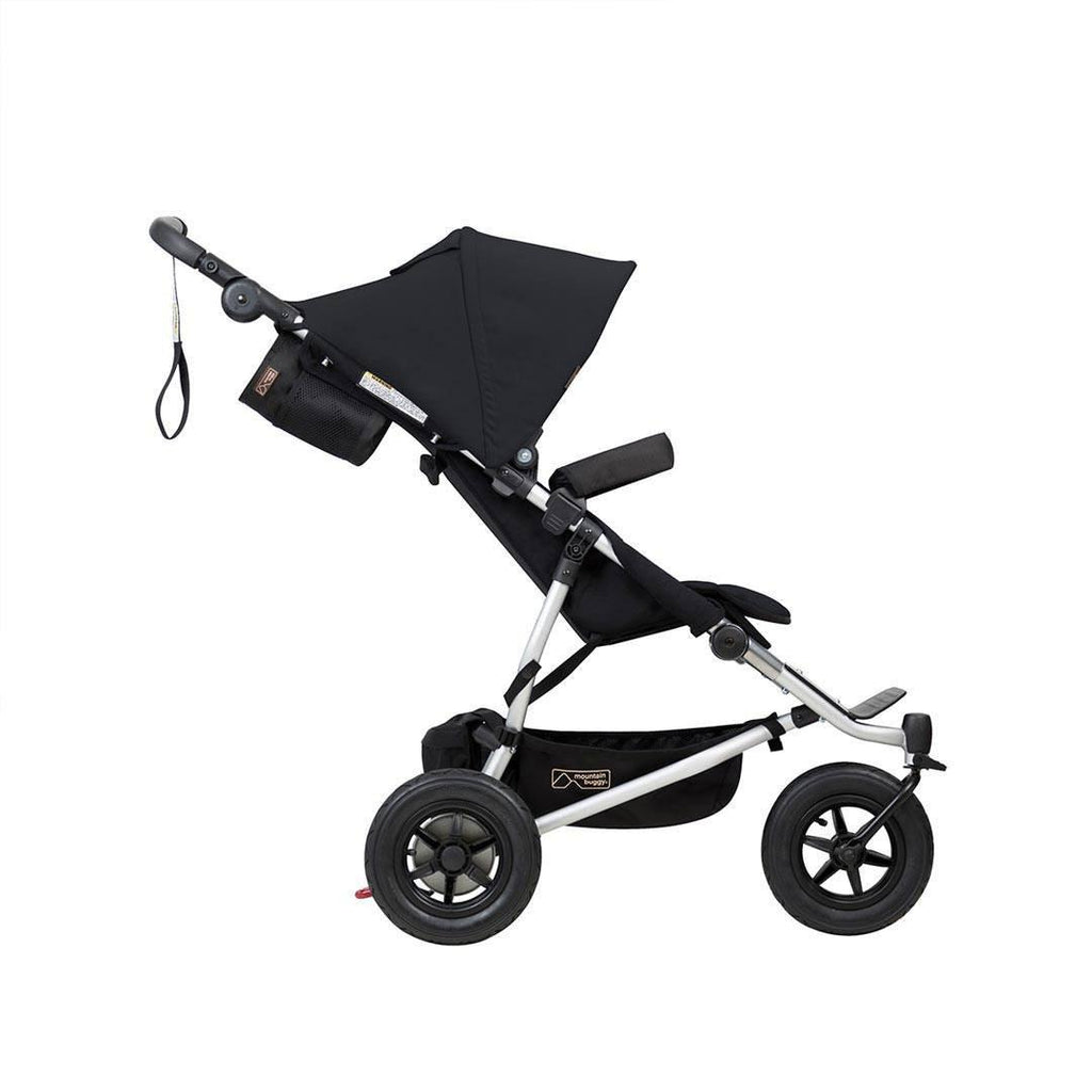 Mountain Buggy Duet V3 Pushchair - Black-Strollers- Natural Baby Shower