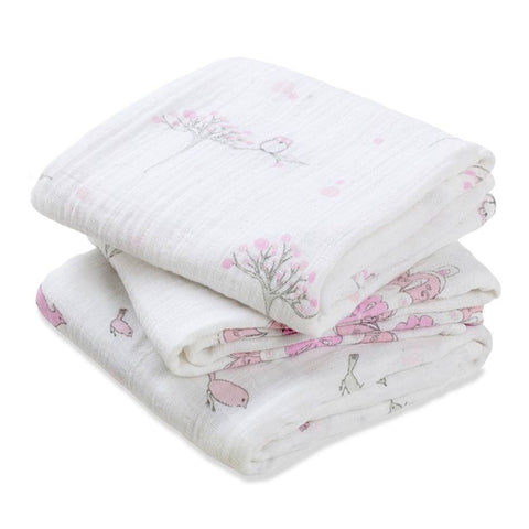 Muslin Squares - Aden & Anais Musy - For The Birds - 3 Pack