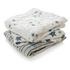 Muslin Squares - Aden & Anais Musy - Prince Charming - 3 Pack