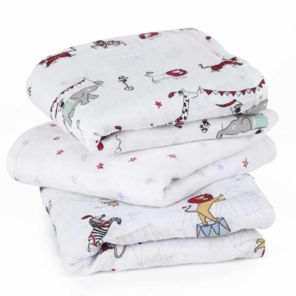 Muslin Squares - Aden & Anais Musy - Vintage Circus - 3 Pack