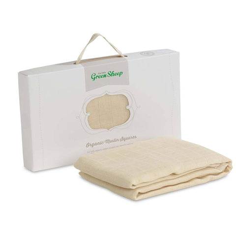 Muslin Squares - The Little Green Sheep - Organic Muslin Squares - 3 Pack