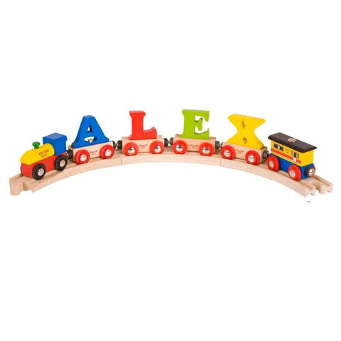 BigJigs Name Train-Name Train- Natural Baby Shower