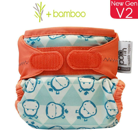 Close Pop-in NewGen V2 Nappy - Bamboo - Hippo - Nappies - Natural Baby Shower
