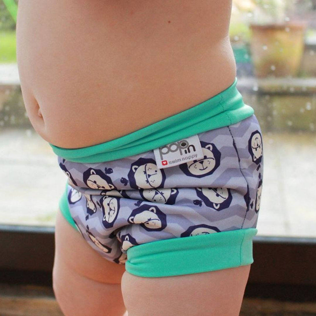 Nappies Swim - Close Pop-in Swim Nappy - Lion