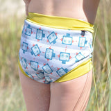 Nappies Swim - Close Pop-in Swim Nappy - Robot