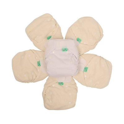 TotsBots Bamboozle Wraps Size 2 - 5 Pack-Nappy Packs-Default- Natural Baby Shower