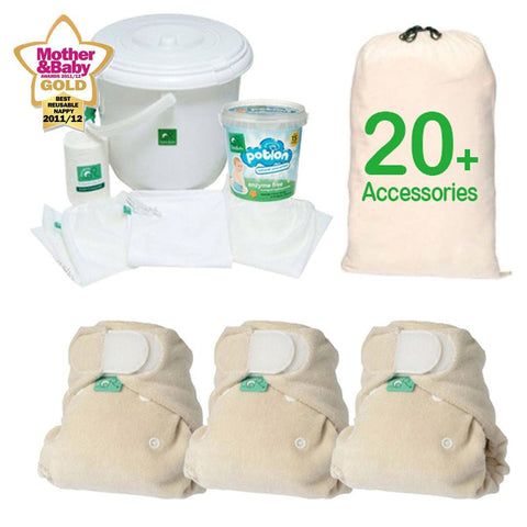 Nappy Packs - TotsBots Bamboozle Size 2 - Birth To Potty Pack
