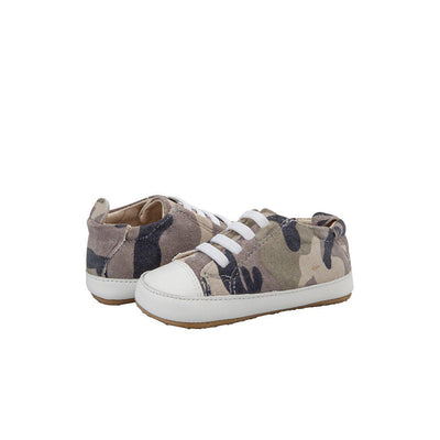 Old Soles Eazy Jogger Shoes - Army Camo/Snow-Shoes- Natural Baby Shower