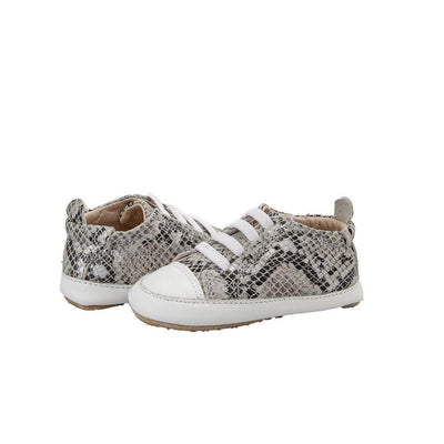Old Soles Eazy Jogger Shoes - Grey Serp/Snow-Shoes- Natural Baby Shower