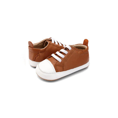 Old Soles Eazy Jogger Shoes - Tan/Snow-Shoes- Natural Baby Shower