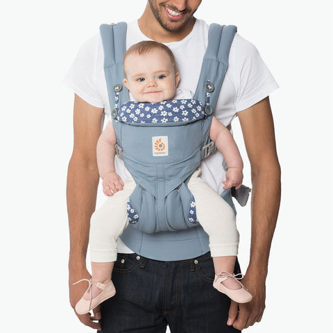 Ergobaby Omni 360 Carrier - Blue Daisies-Baby Carriers-Blue Daisies- Natural Baby Shower