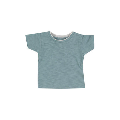 Pigeon Organics Short Sleeve T-Shirt - Turquoise-Short Sleeves- Natural Baby Shower