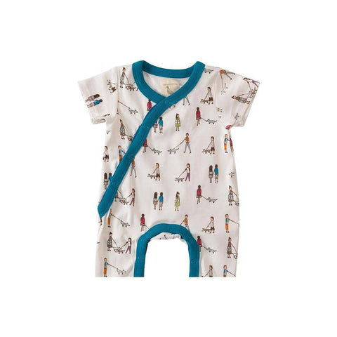 Pigeon Organics Short Summer Romper - Dog Walkers