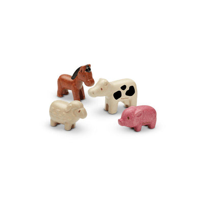 Plan Toys Animals Set - Farm Animals-Play Sets-Farm Animals- Natural Baby Shower