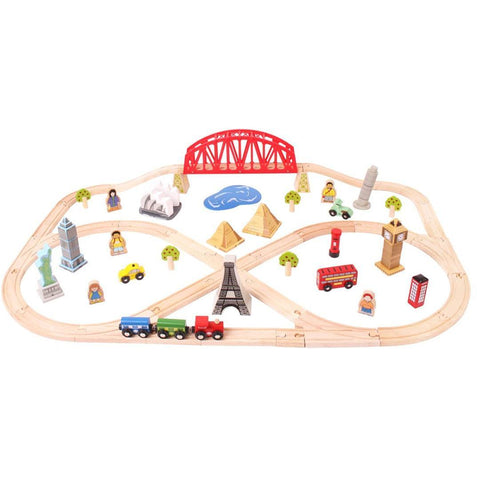 BigJigs Around the World Train Set - Play Sets - Natural Baby Shower