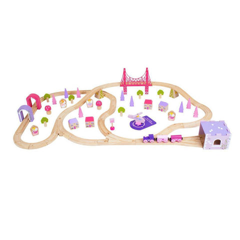 BigJigs Fairy Town Train Set - Play Sets - Natural Baby Shower