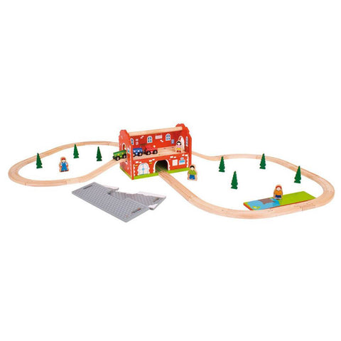 BigJigs Railway Station Carry Train Set - Play Sets - Natural Baby Shower