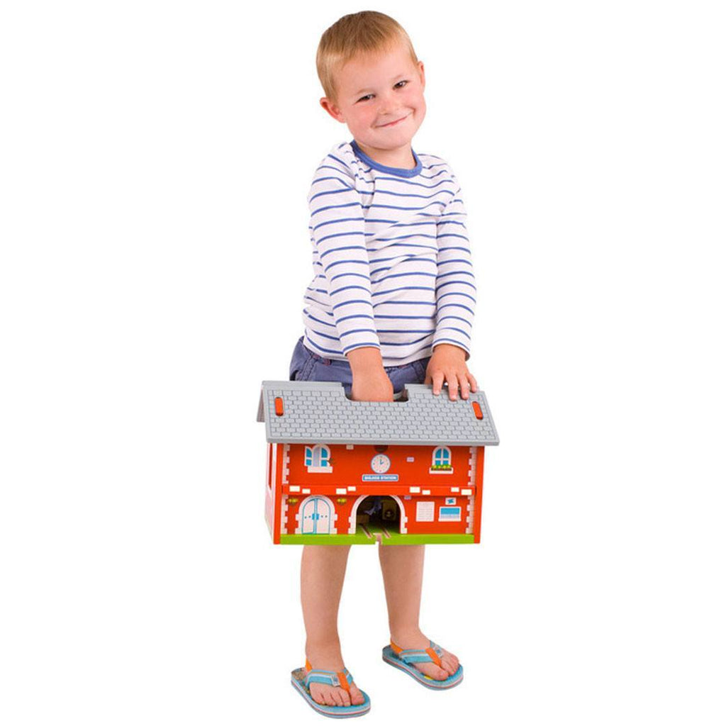 Play Sets - BigJigs Railway Station Carry Train Set