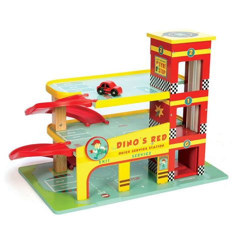 Play Sets - Le Toy Van - Dino's Red Garage
