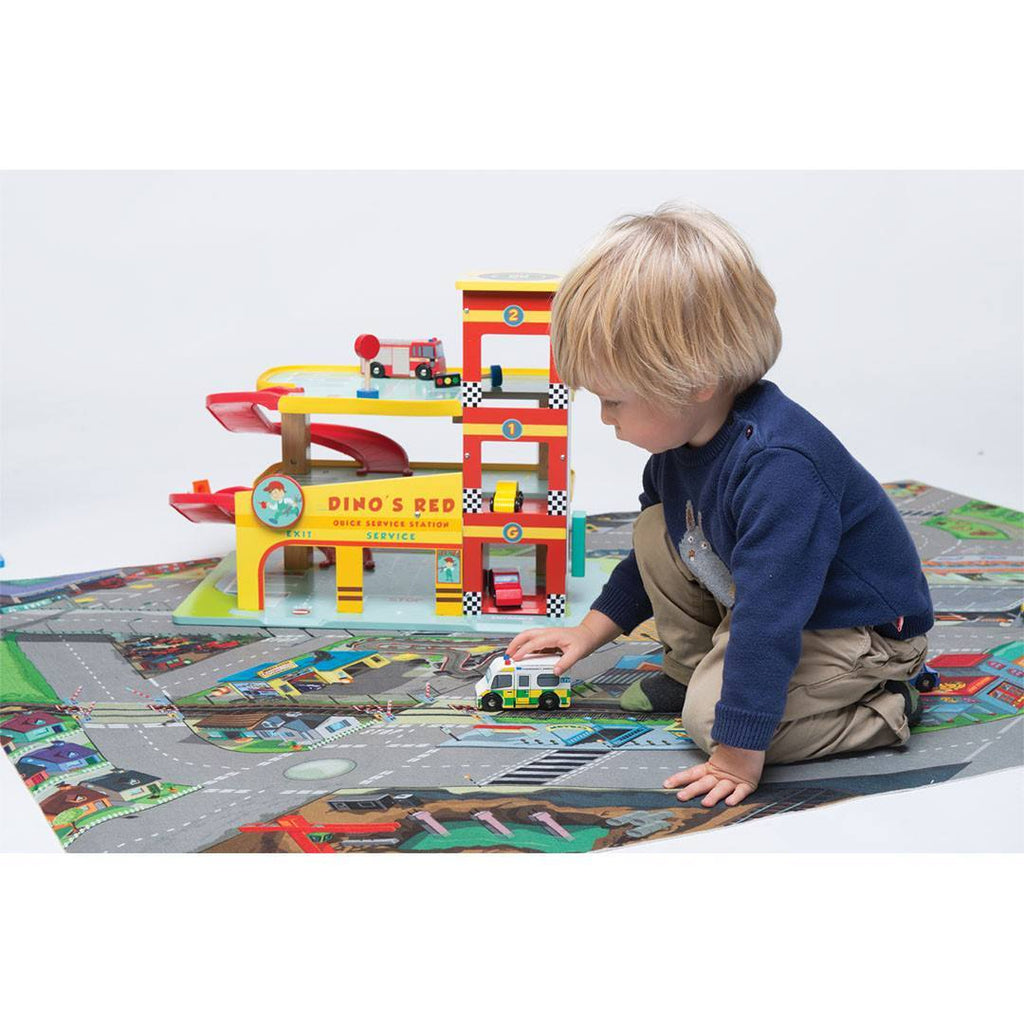 Le Toy Van - Dino's Red Garage - Play Sets - Natural Baby Shower