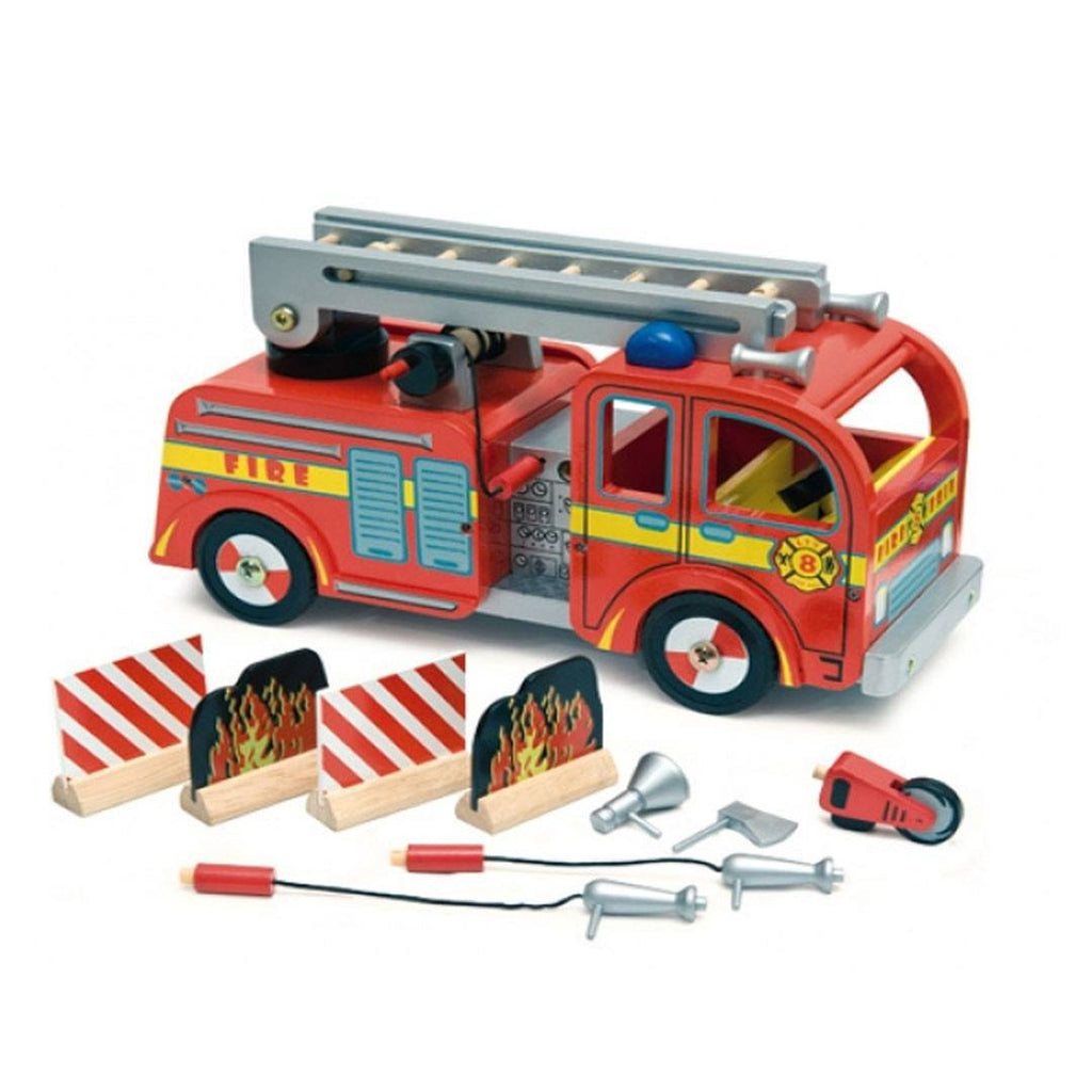 Le Toy Van - Fire Engine Set - Play Sets - Natural Baby Shower