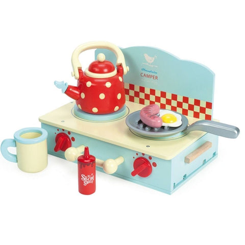 Le Toy Van - Honeybake Camper Mini Stove Set - Play Sets - Natural Baby Shower