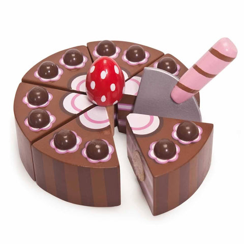 Le Toy Van - Honeybake Chocolate Birthday Cake - Play Sets - Natural Baby Shower