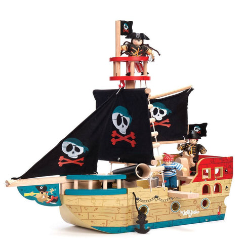 Le Toy Van - Jolly Pirate Ship - Play Sets - Natural Baby Shower