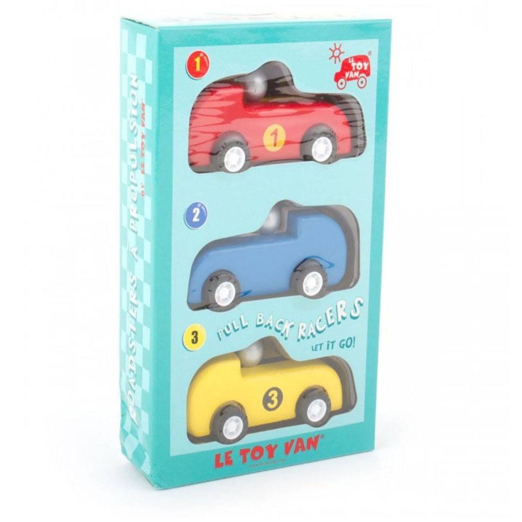 Le Toy Van - Three Pullback Racers - Play Sets - Natural Baby Shower