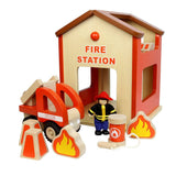 Masterkidz Fire Station Play Set-Play Sets-Default- Natural Baby Shower