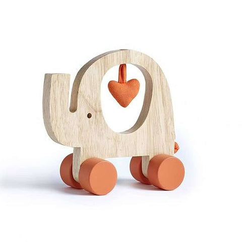 Natures Purest My First Wooden Friend - Push Along Elephant - Play Sets - Natural Baby Shower