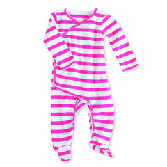 Playsuits & Rompers - Aden & Anais Muslin Long Sleeve Kimono One-Piece - Pink Blazer Stripe