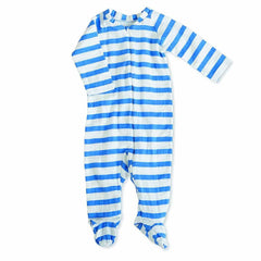 Playsuits & Rompers - Aden & Anais Muslin Long Sleeve Zip One-Piece - Ultramarine Blazer Stripe