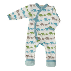 Playsuits & Rompers - Pigeon Organics Romper - Silhouette Prints - Blue Elephant Mix
