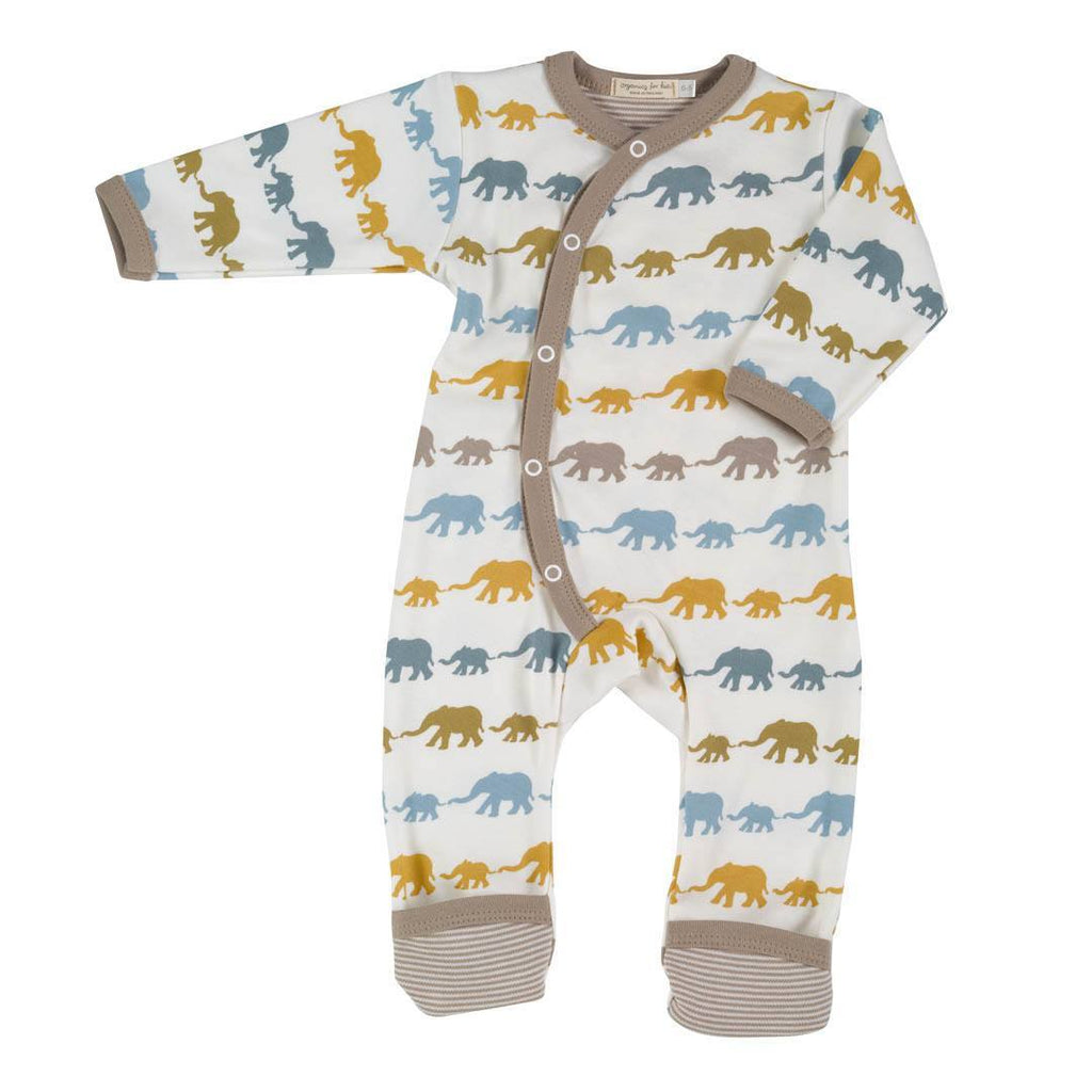 Playsuits & Rompers - Pigeon Organics Romper - Silhouette Prints - Mustard Elephant Mix