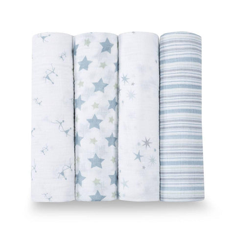 aden + anais Muslin Swaddles - Prince Charming 4 Pack