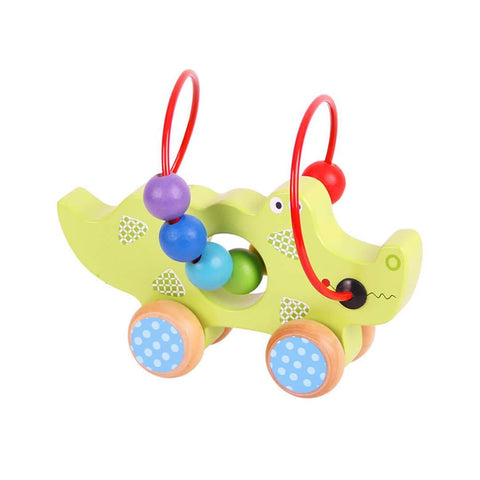 BigJigs Crocodile Push Along Bead Frame - Puzzles - Natural Baby Shower